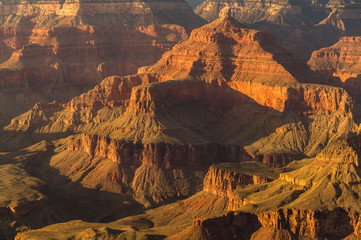 Scenic Landscape from  the Grand Canyon National Park South Rim , Arizona, USA