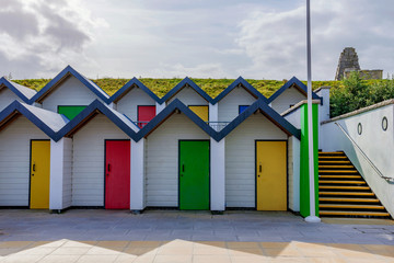 Beach huts in Swanage