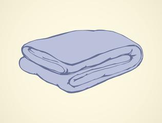 Blanket. Vector drawing