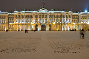 Winter Palace. Palace Square. New Year's St. Petersburg