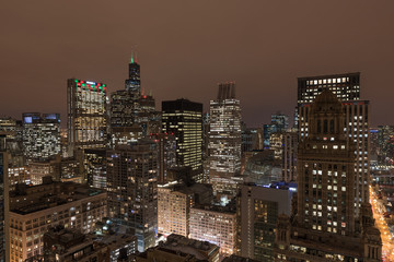 Wall Mural - Chicago skyline and Willis Tower