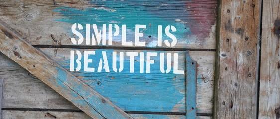 Obraz Simple is beautiful - fototapety do salonu