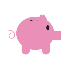 Piggy savings symbol icon vector illustration graphic design