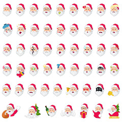 Santa Claus Emoji Icons Illustration