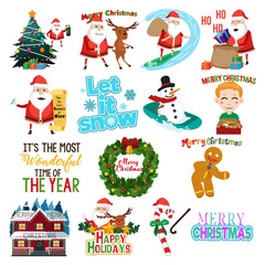 Christmas clip arts Illustration