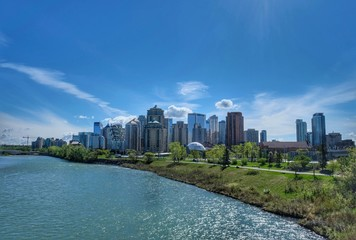 Calgary Skyline, Alberta, Kanada