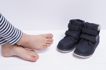 children's shoes and feet