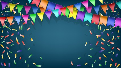 Vector background with festive decorations
