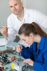 young electronic technician