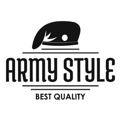 Army style logo, simple black style
