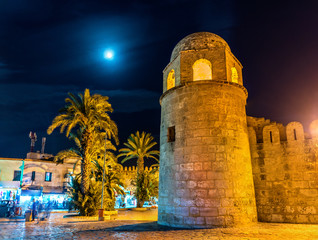 The Great Mosque of Sousse at night. Tunisia