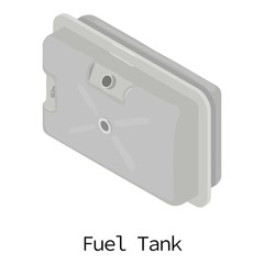 Fuel tank icon, isometric 3d style