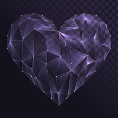 Glass heart shape