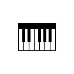 Piano Keyboard Icon. Music sign simple icon. Music element icon. Premium quality graphic design. Signs, outline symbols collection icon for websites, web design, mobile app