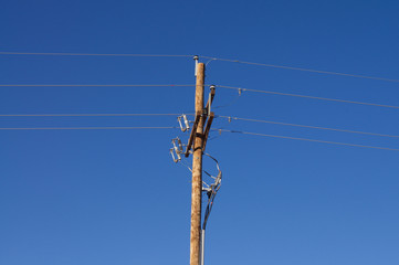 Blue Sky Electric Pole
