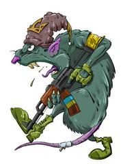 rat with a Kalashnikov