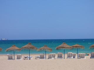 Playa de El Saler  de la ciudad de Valencia, situada en los Poblados del Sur, en pleno Parque Natural de la Albufera (Comunidad Valenciana, España)