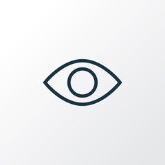 Eyesight icon line symbol. Premium quality isolated remove red eye element in trendy style.