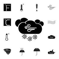 Wind, clouds and snow icon. Set of weather sign icons. Web Icons Premium quality graphic design. Signs, outline symbols collection, simple icons for websites, web design, mobile