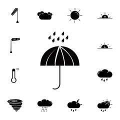 Umbrella rain icon. Set of weather sign icons. Web Icons Premium quality graphic design. Signs, outline symbols collection, simple icons for websites, web design, mobile app