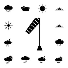 Windsock moderate breeze icon. Set of weather sign icons. Web Icons Premium quality graphic design. Signs, outline symbols collection, simple icons for websites, web design, mobile