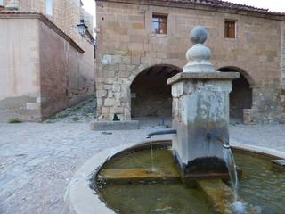 Arquitectura en Miravete de la Sierra. Pueblo con encanto de la provincia de Teruel (España) comunidad autónoma de Aragón, de la comarca del Maestrazgo