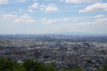 生駒山からの大阪の遠景