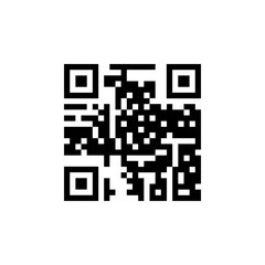 QR code icon. Simple code for mobile phone. Cipher. Digital technology