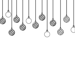 line circle balls hanging decoration christmas design