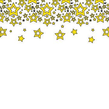 yellow stars christmas decoration backgroud