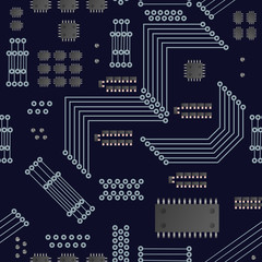 Micro processor seamless pattern.