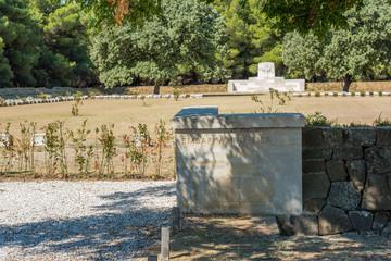 Green Hill Cemetery Anzac,Suvla Road in Canakkale,Turkey