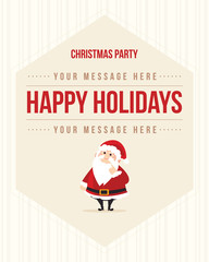 Christmas Party Style Background Poster