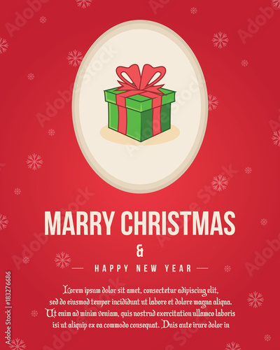 Merry Christmas Poster Template Collection\