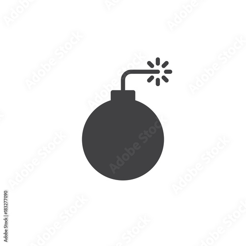 Bomb with fire pop icon vector filled flat sign solid pictogram bomb with fire pop icon vector filled flat sign solid pictogram isolated on white ccuart Images