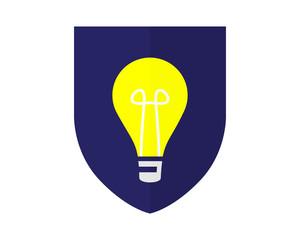 lamp shield vector bulb