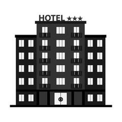 Hotel, hotel icon, three-star hotel.
