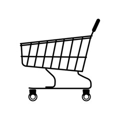 shopping cart vector illustration flat style profile