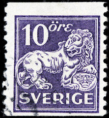 Swedish Lion Stamp