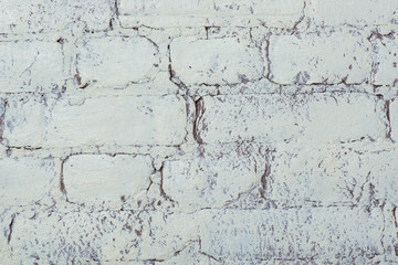 White brick wall texture. Elegant with high resolution of old white brick texture for background wallpaper.