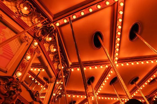 Light bulbs of a carousel