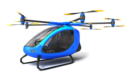 Electric Passenger Drone on the white background