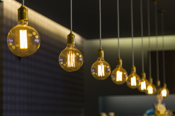Modern Design Light Bulbs in Row