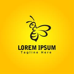 cartoon Bee art logo