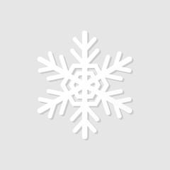 Wite paper snowflake icon