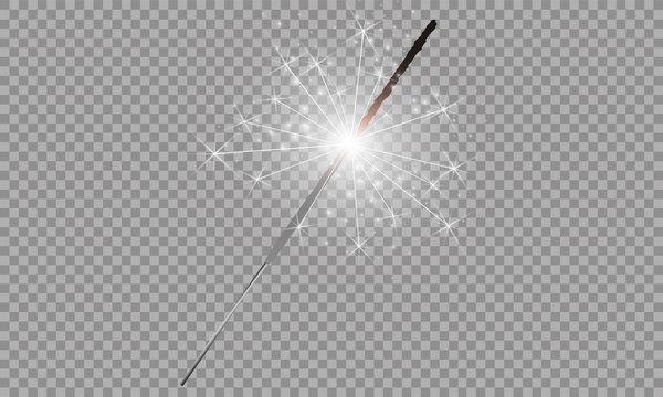Christmas sparkler set. Vector eps10