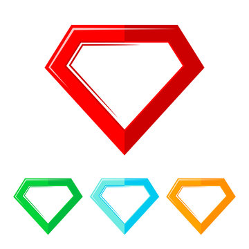 Superhero logo. Vector illustration.