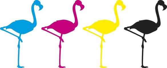 Flamingo vector silhouette