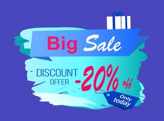 Big Sale Discount Offer Vector Illustration Label