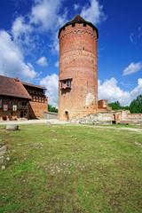 Turm der Burg Turaida im Gauja Nationalpark, Lettland